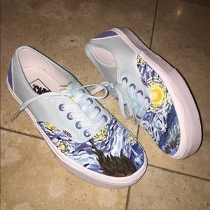 b9d85eb006f Vans Shoes - Custom Hand Painted Starry Night Vans